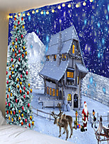 cheap -Christmas Weihnachten Santa Claus Wall Tapestry Art Decor Blanket Curtain Picnic Tablecloth Hanging Home Bedroom Living Room Dorm Decoration Snow Elk Christmas Tree House Polyester