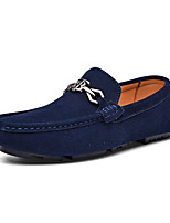 cheap -Men's Summer Daily Outdoor Loafers & Slip-Ons Nappa Leather Black / Brown / Dark Blue