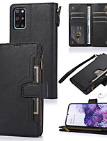 cheap -Case For Samsung Galaxy Note 8 Note 9 Note 10 A10 A30 A20 A40 A50 A50S A30S A70 A70S Card Holder Flip Magnetic Full Body Cases Solid Colored PU Leather