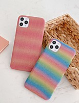 cheap -Case For Apple iPhone 6 6P 6s 6s Plus 7 7P 8 8P iPhone X XS iPhone XR iPhone XS max iPhone 11 iPhone 11 Pro iPhone 11 Pro Max  Frosted Glitter Shine Back Cover Color Gradient PVC
