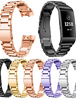 cheap -Stainless Steel Bracelet Watch Band for Fitbit Charge 4 / Fitbit Charge 3 Smart Wristband Loop Replacement Strap for Fitbit Charge 4 / Fitbit Charge 3