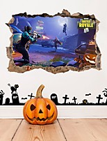 cheap -Halloween Party Halloween Decor Horror Ghost Halloween 3D Wall Stickers Decorative Wall Stickers, PVC Home Decoration Wall Decal Wall Decoration / Removable