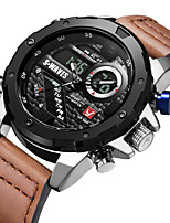 cheap -SWAVES Men's Sport Watch Automatic self-winding Sporty Stylish Casual Water Resistant / Waterproof Analog - Digital Black+Gloden White Black / Genuine Leather / Japanese / Calendar / date / day
