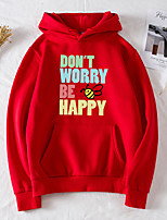 cheap -Women's Daily Pullover Hoodie Sweatshirt Letter Basic Hoodies Sweatshirts  Black Purple Red