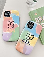 cheap -Case For Apple iPhone 7 8 X XS XR XS max  11 11 Pro 11 Pro Max Pattern Back Cover Word Phrase Cartoon TPU Embossed cute rabbit