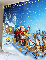 cheap -Christmas Weihnachten Santa Claus Wall Tapestry Art Decor Blanket Curtain Picnic Tablecloth Hanging Home Bedroom Living Room Dorm Decoration Elk Snow Gift Polyester