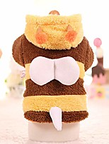 cheap -small dog costume bee cute clothes for puppy winter warm coat - m