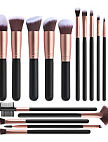 cheap -Professional Makeup Brushes 16pcs Full Coverage Travel Size Wooden / Bamboo for Makeup Set