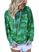 cheap -Women's Daily Pullover Hoodie Sweatshirt Camouflage Casual Hoodies Sweatshirts  Cotton Oversized Purple Army Green Green