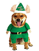 cheap -santa's helper pet costume, x-large