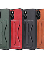 cheap -Case For iPhone12 Card Holder Shockproof  Holder Back Cover Solid Colored PU Leather vintage