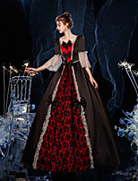 cheap -Princess Shakespeare Rococo Gothic Vintage Inspired Medieval Dress Party Costume Masquerade Women's Costume Red / black Vintage Cosplay Party Masquerade Wedding Party 3/4-Length Sleeve Ball Gown