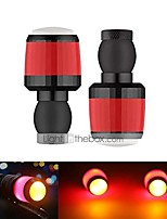 cheap -turn signal led lights for bicycle handlebar 1 pair mini end caps strobe side light handlebars plugs blinker warning lights (black)