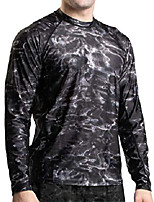 cheap -rash guard men: upf 50+ long sleeve rashguard swim shirts for men: black water: size 4xl