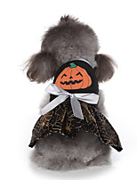cheap -Dog Halloween Costumes Costume Dress Pumpkin Cosplay Cute Christmas Party Dog Clothes Breathable Black Costume Polyester S M L XL