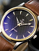 cheap -YAZOLE Men's Sport Watch Quartz Formal Style Stylish Casual Water Resistant / Waterproof PU Leather Black / Brown Analog - Golden / Brown Black / Silver Black+Gloden
