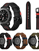 cheap -22mm Leather Watch Band for Samsung Galaxy Watch 3 45mm / Galaxy Watch 46mm / Gear S3 Classic / Gear S3 Frontier Replaceable Bracelet Wrist Strap Wristband