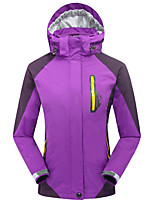 cheap -Women's Hiking 3-in-1 Jackets Hiking Jacket Hiking Windbreaker Winter Outdoor Patchwork Thermal Warm Waterproof Windproof Fleece Lining Jacket 3-in-1 Jacket Winter Jacket Double Sliders Full Length