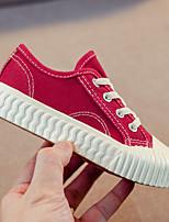 cheap -Boys' / Girls' Flats Vulcanized Shoes Canvas Little Kids(4-7ys) / Big Kids(7years +) Walking Shoes White / Black / Yellow Spring / Fall