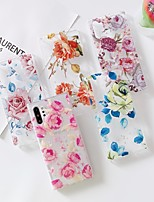 cheap -Case for Samgung Galaxy Note 10 Note10 pro Note10 lite Transparent Pattern Back Cover Flower TPU