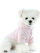 cheap -Dog Coat Jumpsuit Pajamas Solid Colored Casual / Daily Cute Casual / Daily Winter Dog Clothes Warm Pink Gray Costume Polyster XS S M L XL