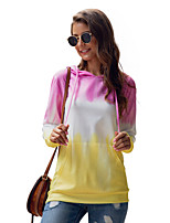 cheap -Women's Daily Pullover Hoodie Sweatshirt Print Front Pocket Casual Hoodies Sweatshirts  Blushing Pink Light Green