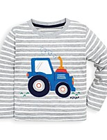 cheap -Kids Boys' Basic Striped Print Long Sleeve Tee Gray