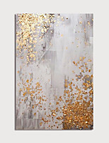 cheap -Oil Painting Paint Handmade Abstract Gold Foil Canvas Art Modern Art with Stretcher Ready to Hang With Stretched Frame