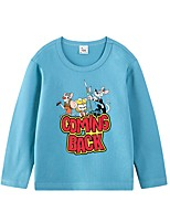 cheap -Kids Boys' Basic Blue Geometric Print Long Sleeve Tee Blue