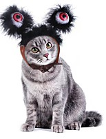 cheap -Dog Cat Ornaments Hats, Caps & Bandanas Hair Accessories Cartoon Cosplay Dog Clothes Black Costume PU Leather S M