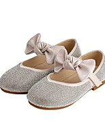 cheap -Girls' Flats Flower Girl Shoes Microfiber Little Kids(4-7ys) / Big Kids(7years +) Walking Shoes Crystal Almond / Pink Fall