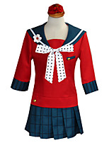 cheap -Inspired by Dangan Ronpa Harukawa Maki Anime Cosplay Costumes Japanese Cosplay Suits Top Skirt Socks For Women's / Headwear / Bow Tie