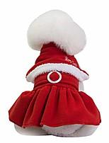 cheap -christmas pet dress puppy dog cat winter warm coat costume princess decoration apparel (s, red)