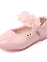 cheap -Girls' Flats Comfort / Ballerina PU Little Kids(4-7ys) / Big Kids(7years +) Walking Shoes Black / Pink / Beige Summer / Fall
