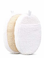 cheap -exfoliating loofah pads, 2 packs natural luffa material loofah sponge shower body scruber for men/women bath spa and shower
