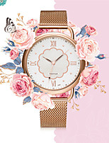 cheap -YAZOLE Women's Quartz Watches Quartz Stylish Floral Style Elegant Water Resistant / Waterproof Analog White Black / Stainless Steel