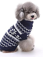 cheap -christmas snowflake pet dog puppy warm sweater jumpsuit clothes outwear & #40;xl, blue& #41;