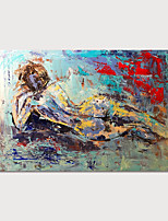 cheap -Hand Painted Canvas Oil Painting Abstract People Home Decoration With Frame Painting Ready To Hang With Stretched Frame