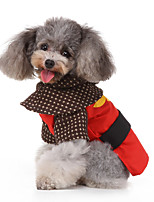 cheap -Dog Halloween Costumes Costume Shirt / T-Shirt Comic Heroes Casual / Sporty British Christmas Party Dog Clothes Breathable Red Costume Polyester S M L XL