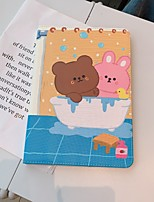 cheap -Case For Apple iPad  Mini 3 2 1 iPad Mini 4 iPad Mini 5 with Stand Flip Full Body Cases PU Leather TPU Protective Stand Cover Pattern bear cute stars lovely word phrase