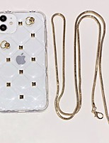 cheap -Case For iPhone 7 8 7 Plus 8 Plus X XS XR XS Max SE 11 11 Pro 11 Pro Max Rhinestone Back Cover Transparent TPU