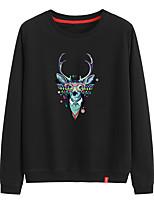 cheap -Women's Sweatshirt Sweatshirt Womens Black Sweatshirt Pullover Sweatshirts Black White Pink Cartoon Crew Neck Animal Patterned Cartoon Cute Sport Athleisure Pullover Long Sleeve Warm Soft Comfortable