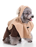 cheap -Dog Halloween Costumes Costume Jumpsuit Cartoon Bear Retro Vintage Cute Christmas Party Dog Clothes Warm Brown Costume Polyester S M L XL