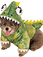 cheap -pet costume, medium, green dinosaur hoodie