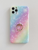 cheap -Case For Apple iPhone 7 7P iPhone 8 8P iPhone X  XS XR XS max iPhone 11 11 Pro 11 Pro Max iPhoneSE (2020) Ring Holder Pattern Glitter Shine Back Cover Color Gradient Glitter Shine Marble TPU