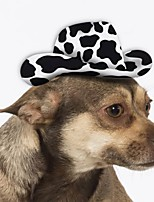cheap -Dog Halloween Costumes Bandanas & Hats Color Block Cowboy Casual / Daily Christmas Party Dog Clothes Breathable Black Costume Fabric