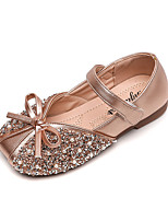 cheap -Girls' Flats Comfort / Flower Girl Shoes / Children's Day Leather Sequins Little Kids(4-7ys) / Big Kids(7years +) Bowknot / Pearl / Sequin Black / Gold / Silver Spring / Fall / Party & Evening