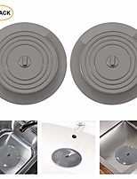 cheap -tub stopper silicone bathtub stopper 6 inches large universal bathtub drain stopper bath plug flat suction drain cover, drain plug for kitchen, bathroom and laundry (2 pack, grey)
