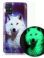 cheap -Case For Samsung Galaxy A51 5G A71 A10 A20E A30S A50 A40 A70 A70E A10S A20S A11 A01 Glow in the Dark Pattern Back Cover Animal TPU