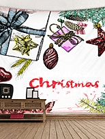 cheap -Christmas Wrap Digital Printed Tapestry Classic Theme Wall Decor 100% Polyester Contemporary Wall Art Wall Tapestries Decoration